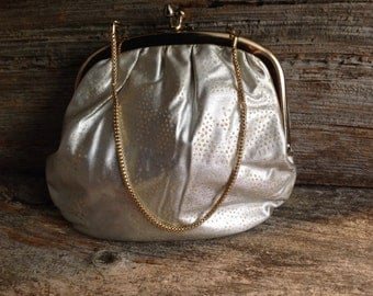 Silver and Gold Pouch Evening Bag/Clutch
