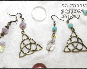 "Earrings ""triquetra"" in Celtic, Pagan, fantasy"