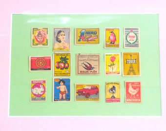 Framed Indian Matchbox Covers