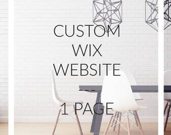 Custom web site on WIX - webshop 1 page for your business and web site design