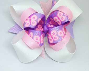Spring Bow, Girl bow, Boutique Bow, Butterfly bow, bows for girls, hair bows for girls, big bow, pink and purple bow, toddler bows
