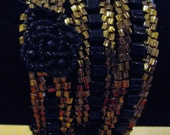 Seed Bead Wrap Around Bracelet
