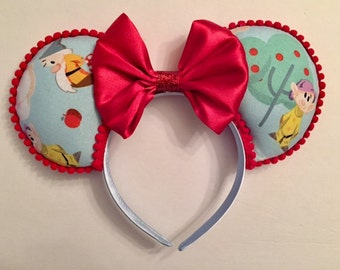 Seven Dwarf Ears, 7 Dwarfs Mouse Ears Headband, fits Children and Adults, Ready to ship