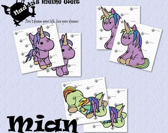 Mian the Unicorn, Series 1, Cutting Machine Files