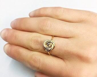 14k Gold Rose Ring