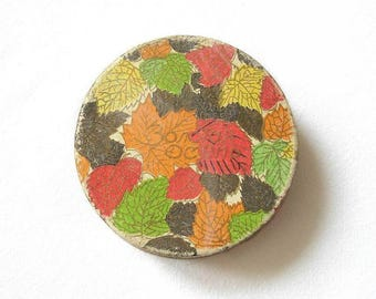 """Vintage Russian Lady Face Vanity Powder GOLDEN AUTUMN Unopened. Powder Box - """"Golden Autumn Powder"""". Vanity, Beauty, Collectibles"""