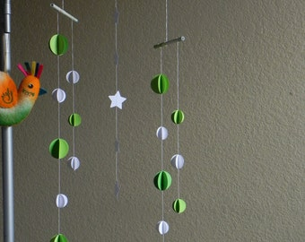Hanging wall mobile/paper deco mobile / baby mobile/ kid's room mobile