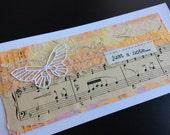 Handmade Art Card - Just a Note