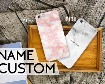 iPhone 7 case custom name marble iPhone 7 plus case unique iPhone 6s case iPhone 6 plus case iPhone case iPhone 6,5s case iPhone 6s plus