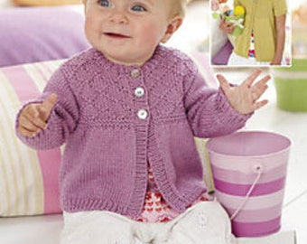 Sweater Knitting Pattern Leaflet Sirdar 1219 Snuggly Baby Bamboo DK, 0-7 years