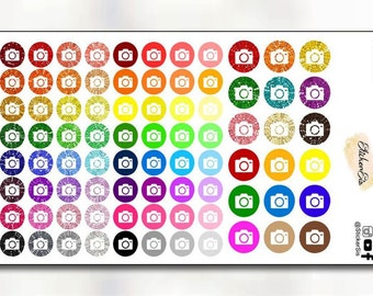 Camera Circle Icon Planner Stickers I001