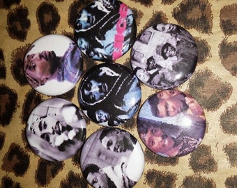 6 Pin Button set Juice Tupac 1 inch Buttons