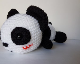 Panda amigurumi/crochet 9 inches | panda bear plush | gifts for him | gifts for her| kids soft toy | anniversary | Christmas [Made to order]