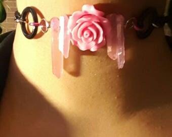 Rose Pink Crystal Choker*SALE*