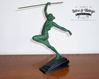"""Art Deco Sculpture """"The Amazon"""" Pierre Le Faguays under the pseudonym Fayral"""