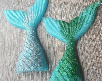 Mermaid Tail Soap - Goats Milk Soap - Kids Soap - Mermaid Birthday Favors - Customizable Mermaid Soaps - Fantasy Soaps  - Nerdy Soaps