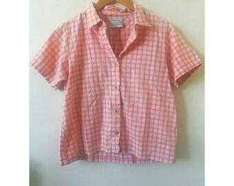 Vintage Summer Crop Button-Up