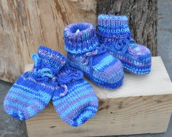Baby shoes & gloves set