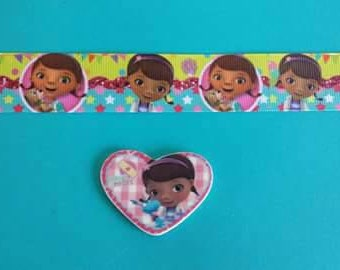 doc mcstuffins printed one inch grosgrain ribbon