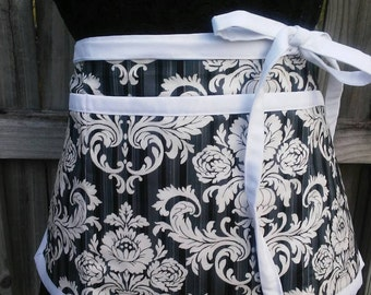 Vintage style classy half apron, utility apron