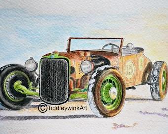 American car sketch (hot rod)