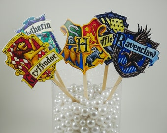 Hogwarts Houses centerpiece ,Harry Potter party theme, Hogwarts Houses table decoration, Hogwarts School of Witchcraft and Wizardry