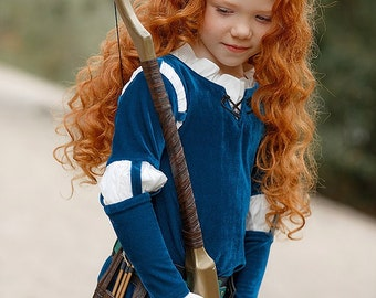 Disney Princess; Brave; Merida; Children; Kids; high quality; handmade cosplay costume