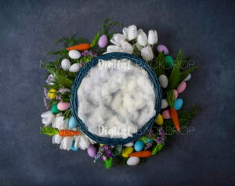 Easter Digital Backdrop Newborn Background