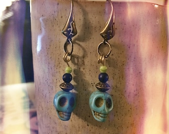 Witchcraft, Earrings, Skull earrings, dia de los muertos, pangan, witchy, hoodoo, wicca