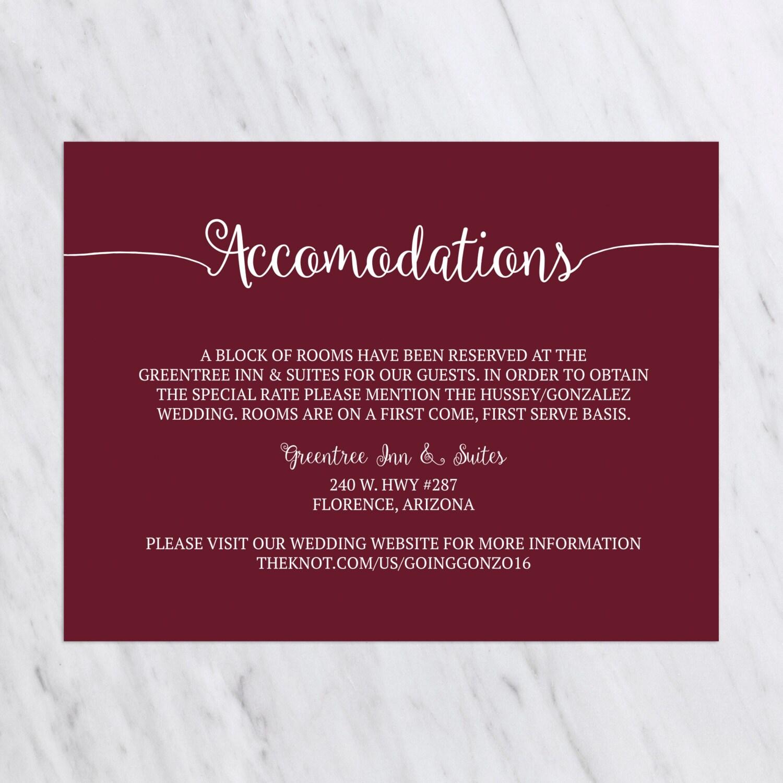 Rustic Wedding Invitation Set, Burgundy Wedding Invitation, Barn ...