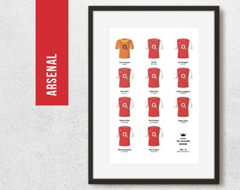 Arsenal 2004 Invincibles Team Print, Football Poster, Football Gift, FREE UK Delivery