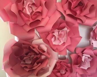 Paper flowers backdrop,paper flowers,flowers decoration, nursery decoration, home decoration, party decoration, wedding decoration