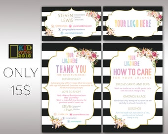 Lula Marketing Kit Bundle Package, 2 Items Package, LulaRoe Business and Thanks Cards, Fast Free Personalization,Home Office Approved K25M03