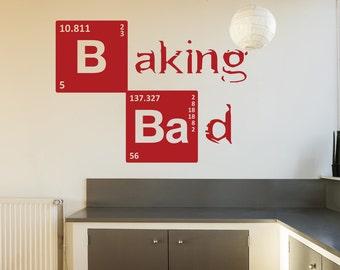 Breaking Bad Baking Bad Wall Sticker Kitchen Vinyl Decal Stencil Art Gift