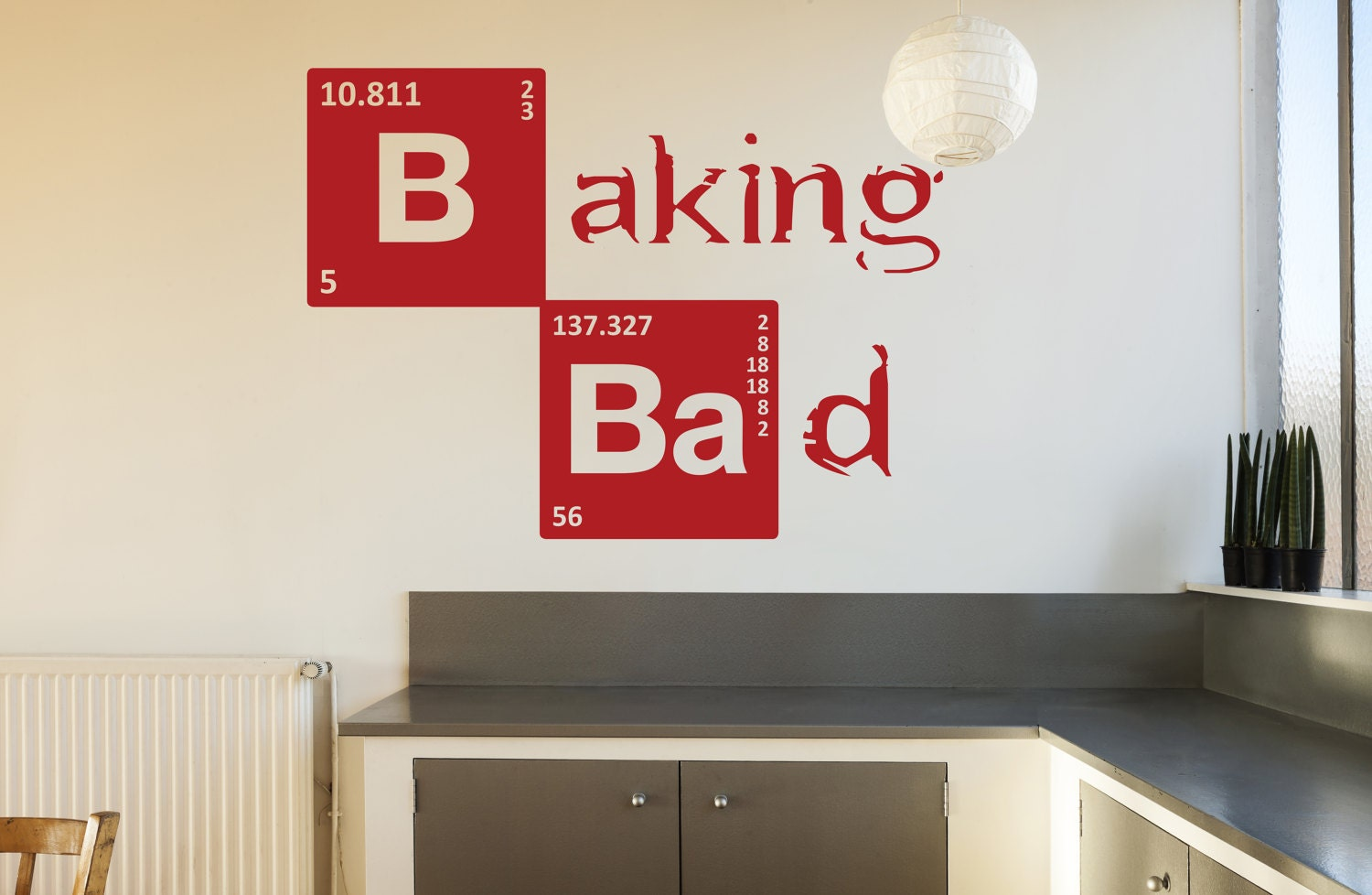 Breaking bad baking bad wall sticker kitchen vinyl decal zoom amipublicfo Choice Image