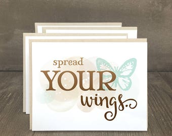 Encouragement inspirational notecards, Spread Your Wings