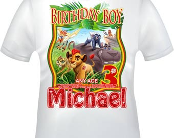 YOU PRINT- The Lion Guard Birthday Boy iron on, The Lion Guard iron on, The Lion Guard Birthday Shirt decal, The Lion Guard - LIONGUARD