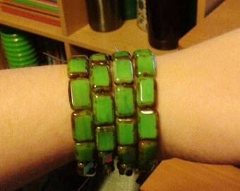 Green Stretchy Bracelets