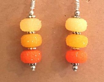"Summery ""Citrus Candy"" Dangle Earrings"