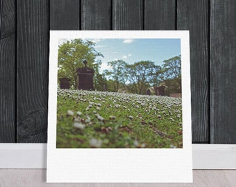 "Custom Polaroid Style Cotton Canvas Print with Copyright Photograph of Edinburgh - ""Different Kind оf Park"", 3 sizes available, Wall Decor"