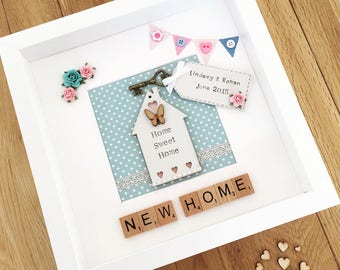 Handmade Personalised New Home Picture Frame