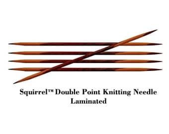 """Squirrel 7"""" Long Premium Laminated Wood Double Point Knitting Needle - 5pcs/set"""