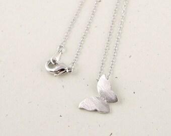 Jasmine silver plated Butterfly Necklace cute animals modern minimalist jewelry