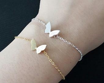 Jasmine Butterfly silver plated bracelet animals cute woman modern jewelry
