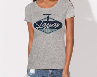 Zawai surfing woman tshirt