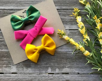 Colorful 3 inch bows