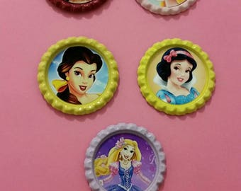 Disney Princess finished bottlecaps