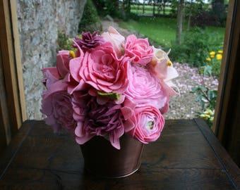 Shades of Pink Felt Bouquet