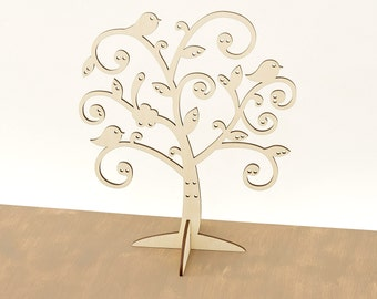 Wooden jewelry organizer/ Jewelry Tree / Earring Holder / Jewelry Stand / Jewelry Storage / Wood Earning holder MG000554