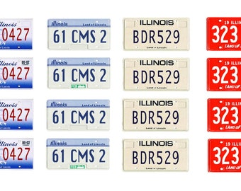 scale model car Illinois license tag plates